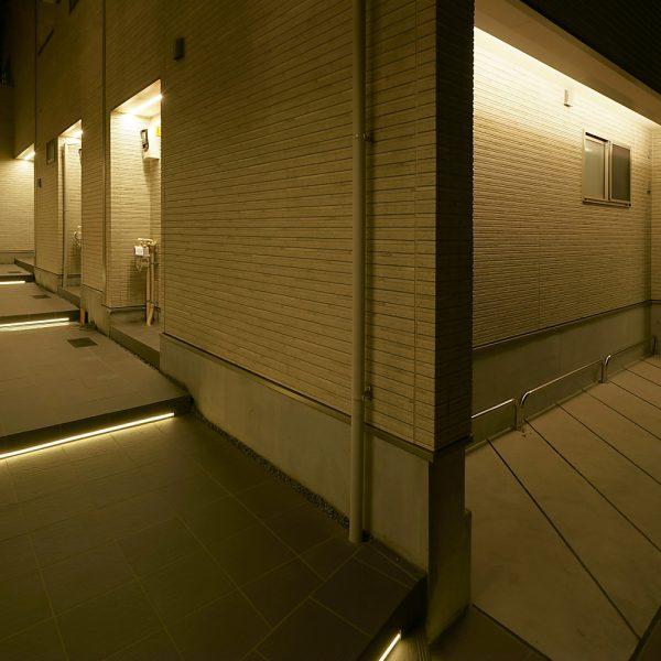 某集合住宅 エントランス・アプローチ照明デザイン